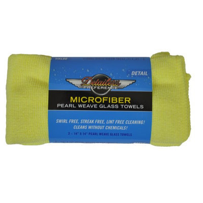 Eurow & O'reilly Corp. Eurow Microfiber Glass Cleaning Towel, 14in X 14in (2 Pack)