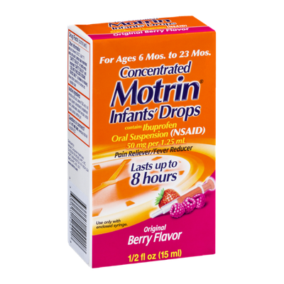 Infants' Motrin Concentrated Drops Original Berry Flavor