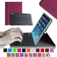 Fintie SmartShell Cover with Wireless Bluetooth Keyboard Case for Apple iPad Air / iPad 5 (5th Generation), Purple