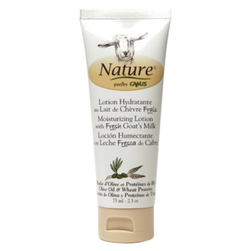 Nature by Canus Moisturizing Lotion with Fresh Goat's Milk, Olive Oil & Wheat Proteins, 2.5 oz