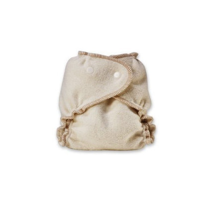 Kissaluvs Organic Cotton/Hemp Fitted Diaper, Unbleached, Medium/Large 15-40lbs