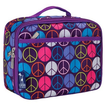 Wildkin Peace Signs Purple Lunch Box - Peace Signs