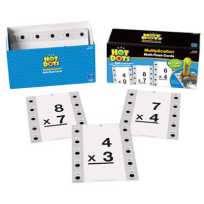Educational Insights 2759 Hot Dots Math Flash Cards - Multiplication