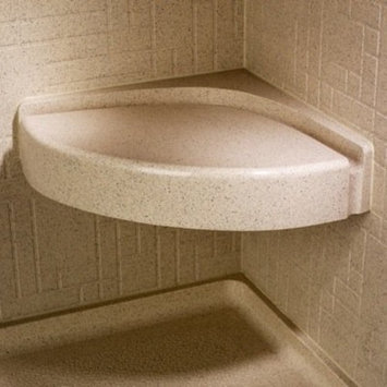 Swanstone CS-1616-010 Corner Shower Seat, White Finish
