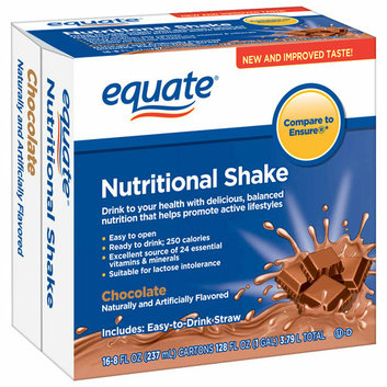 Equate Chocolate Nutritional Shakes