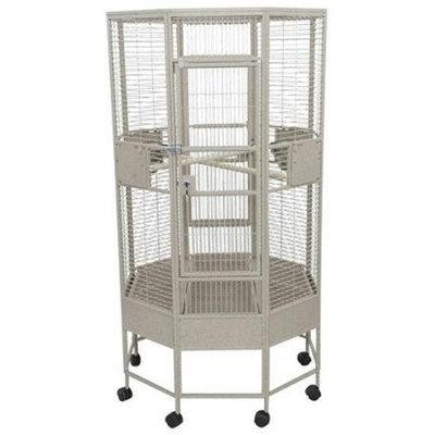 A&e Cage Small Octagon Bird Cage Color: Sandstone
