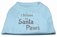 Ahi Screenprint Santa Paws Pet Shirt Baby Blue XXL (18)