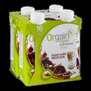 Orgain Organic Nutritional Shake Iced Cafe Mocha - 4 CT