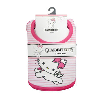 Sanrio Charmmykitty Newborn Girl's 2 Pack Bibs - recaro north