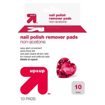 up & up UP UP RMVR 10CT NPR NON ACET PADS