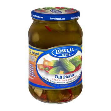 Lowell Foods Dill Pickles with Sliced Peppers