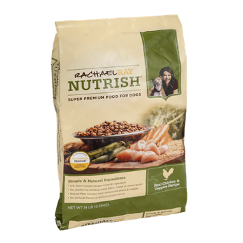 Rachael Ray Nutrish Dog Food Real Chicken & Veggies Recipe