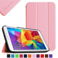 Fintie Smart Shell Case Ultra Slim Lightweight Stand Cover for Samsung Galaxy Tab 4 7.0 Tablet, Pink