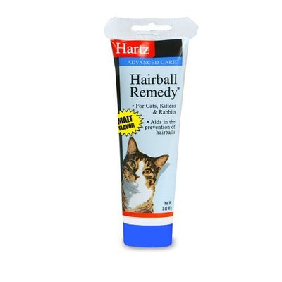 Hartz Hairball Remedy for Cats, Kittens and Rabbits, Malt Flavor, 3 Ounce