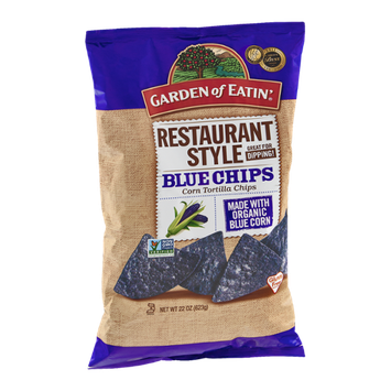 Garden of Eatin' Corn Tortilla Chips Restaurant Style Blue Chips