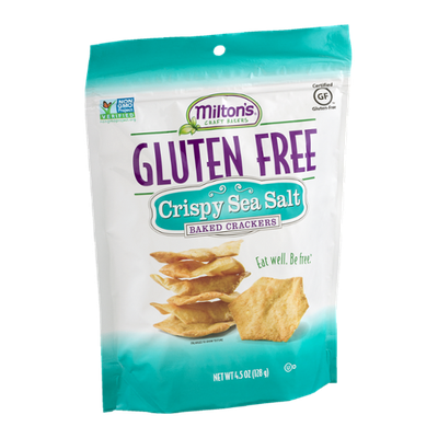 Milton's Craft Bakers Gluten Free Baked Crackers Crispy Sea Salt