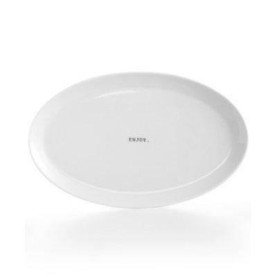 The Cellar Whiteware Words Oval Platter