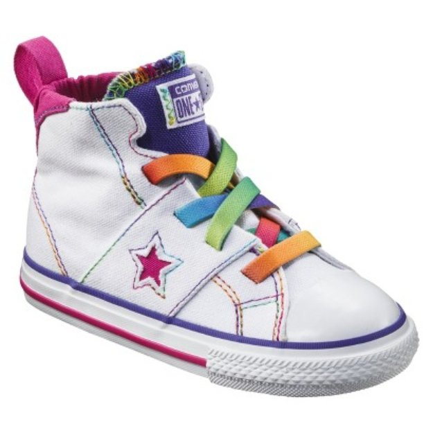 Toddler Girl's Converse One Star High Top Sneaker - White 10