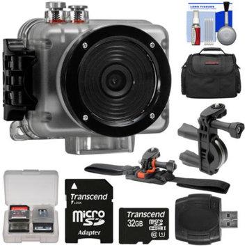 Intova Nova HD Waterproof Sports Video Camera Camcorder with 32GB Card + ATV/Bike Handlebar & Vented Helmet Mounts + Case + Kit