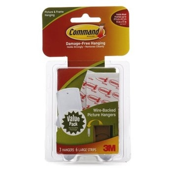 Command Strips Damage-Free Hanging:  Wire-Backed Picture Hangers