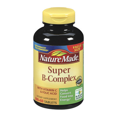 Nature Made Super B-Complex Dietary Supplement With Vitamin C & Folic Acid