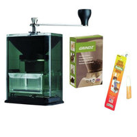 Hario MXR2TB Coffee Grinder w/ Suction Base + Coffee Grinder Cleaner + Coffee Grinder Dusting Brush