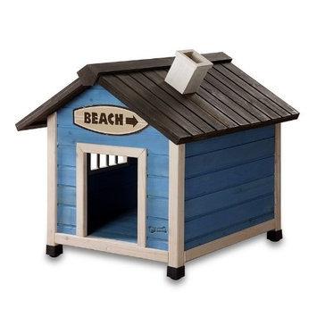 Pet Squeak Beach House Dog House, Small