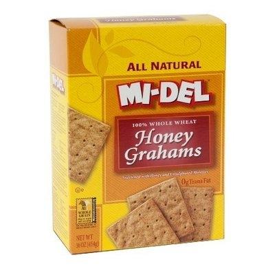 Mi-Del 100% Whole Wheat Grahams, Honey, 16-Ounce