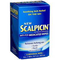 Scalpicin Anti-itch Medicated Wipes, 12-Count Box