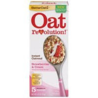 Strawberries & Cream Instant Oatmeal - Delicious Oatmeal, 5 pk,(BetterOats)