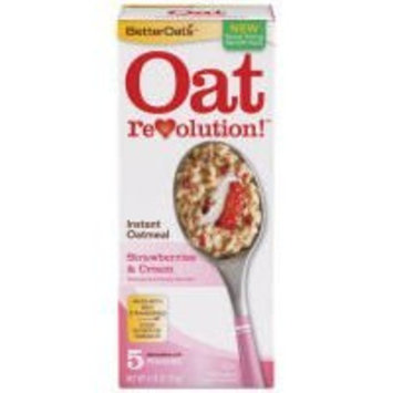 Strawberries & Cream Instant Oatmeal - Delicious Oatmeal, 5 pk,(BetterOats)