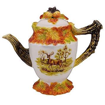 Kaldun & Bogle Hunt Harvest Deer / Pheasant Teapot