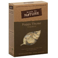 Back To Nature Poppy Thyme Crackers