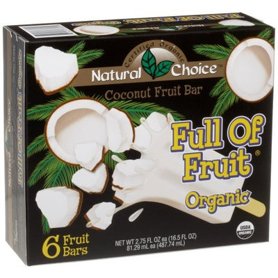 Natural Choice Foods Organic Frozen Coconut Fruit Bars, 6-Count, 16.5-Ounce Boxes (Pack of 3)