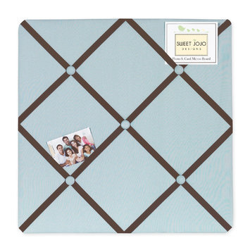 Sweet Jojo Designs Hotel Blue and Brown Collection Memo Board