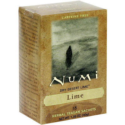 Numi Dry Desert Lime Tea Bags, 18 count, (Pack of 6)