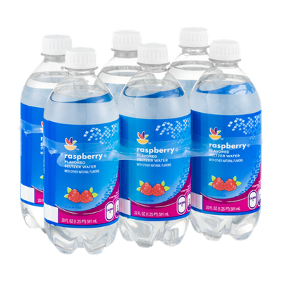 Ahold Flavored Seltzer Water Raspberry - 6 PK