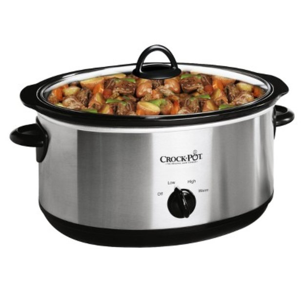 Crock-Pot Oval Electric Slow Cooker - Stainless Steel(7 Quart)