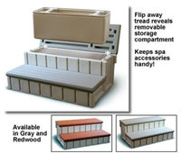 Spa Wave Confer Plastics Spa Step with Storage in Gray