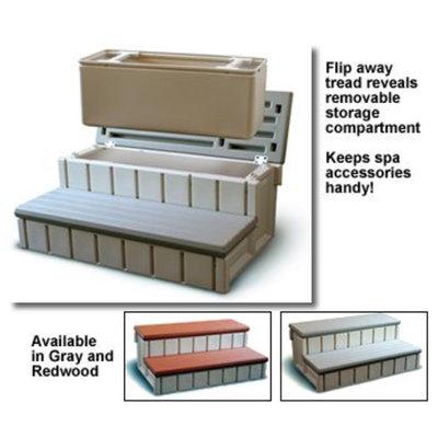 Spa Wave Confer Plastics Spa Step with Storage in Gray