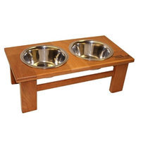 Dynamic Accents Tall Oak Elevated Pet Feeder