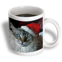 Recaro North 3dRose - Holidays - Christmas Cat - 11 oz mug
