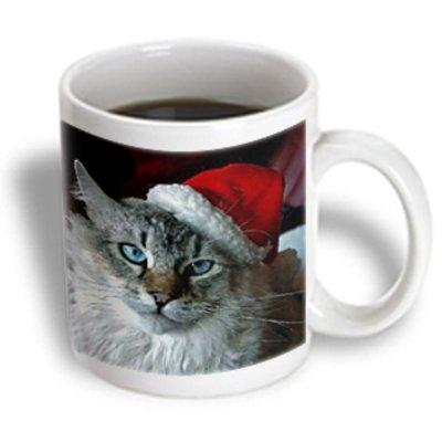 Recaro North 3dRose - Holidays - Christmas Cat - 11 oz mug
