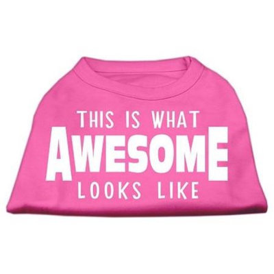 Ahi This is What Awesome Looks Like Dog Shirt Bright Pink XXL (18)