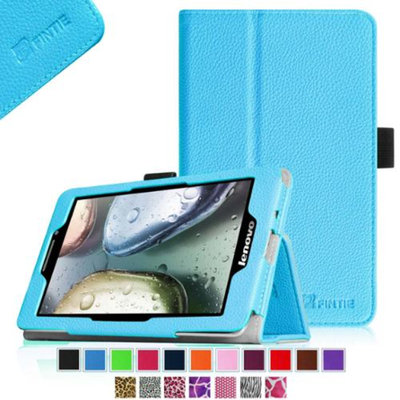 Fintie Lenovo IdeaTab S5000 7-Inch Android Tablet Folio Case - Premium Leather Cover Stand With Stylus Holder, Blue