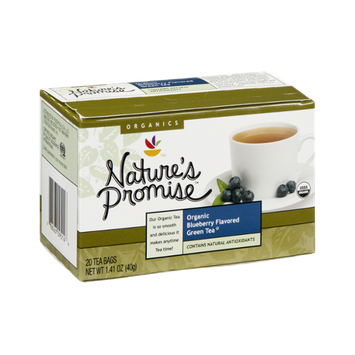 Nature's Promise Organics Organic Blueberry Flavored Green Tea Bags - 20 CT