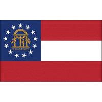 Annin Georiga State Flag - 4' x 6'