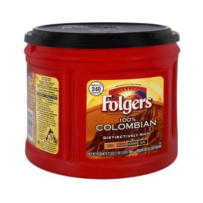 Folgers 100% Colombian Med-Dark Roast Ground Coffee
