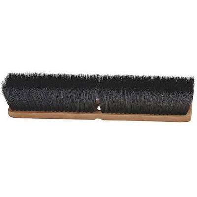 LAITNER 205 Push Broom Head, Tampico, Black,2-7/8in