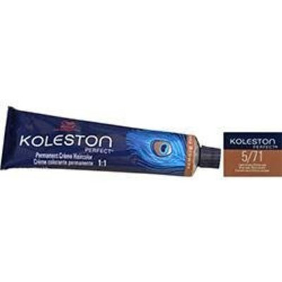 Wella Koleston Perfect Permanent Creme Haircolor 1:1 5/71 Light Brown/Brown Ash